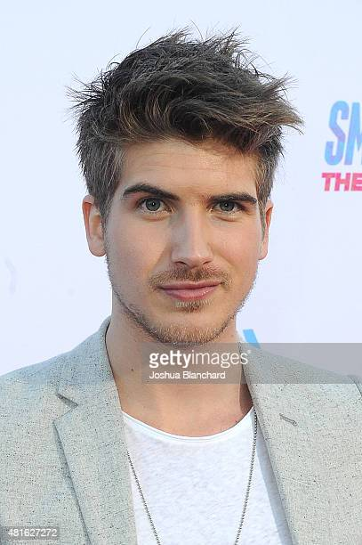 Joey Graceffa attends the premiere of SMOSH THE MOVIE at Westwood Village Theatre on July 22 2015 in Westwood California