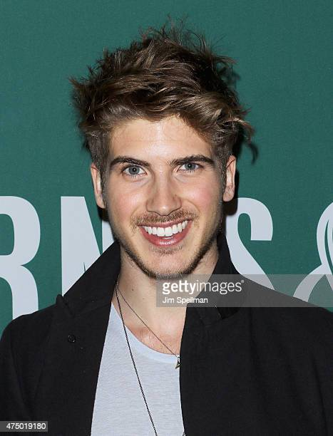 Joey Graceffa signs copies of his book In Real Life My Journey To A Pixelated World at Barnes Noble Union Square on May 28 2015 in New York City