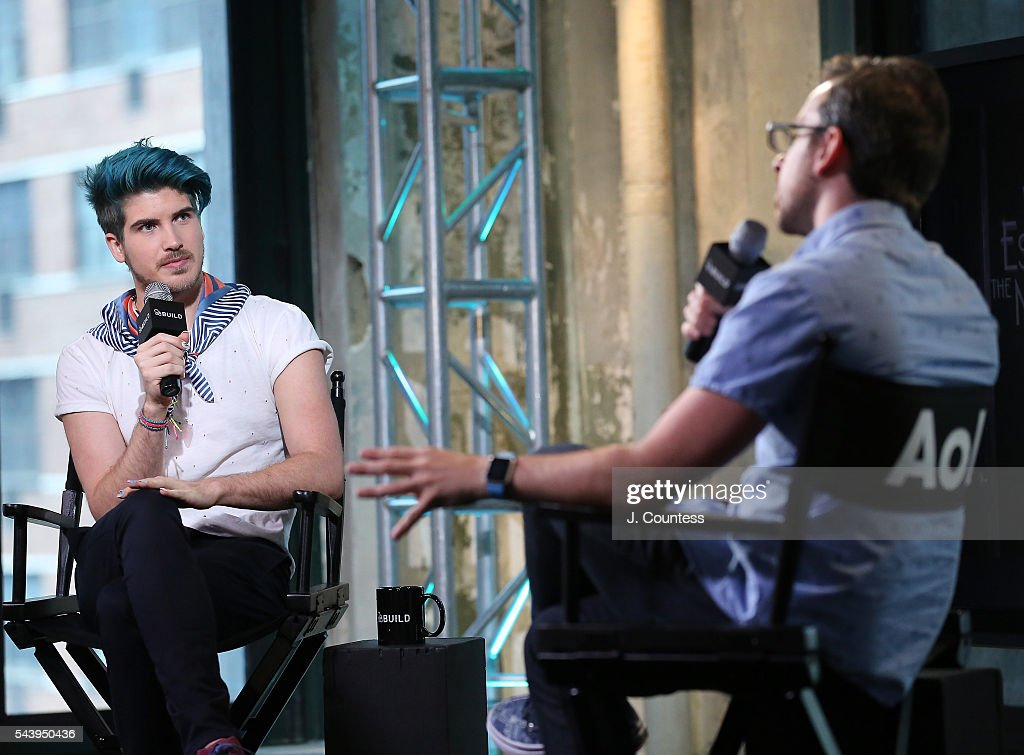 Joey Graceffa speaks during the AOL Build Presents - You Tube Star Joey Graceffa Discusses The New YouTube Red Series 'Escape The Night' at AOL Studios In New York on June 30, 2016 in New York City.