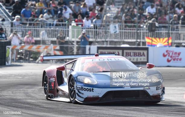 Joey Hand, driving a Ford GT, finished first during the qualifying for the GTLM class of the IMSA WeatherTech Sportscar Championship during the...