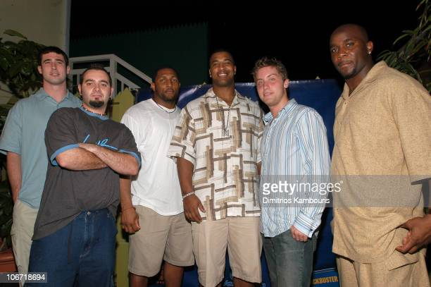 Joey Harrington Chris Kirkpatrick Ray Lewis Duante Culpepper Lance Bass and Roy Williams