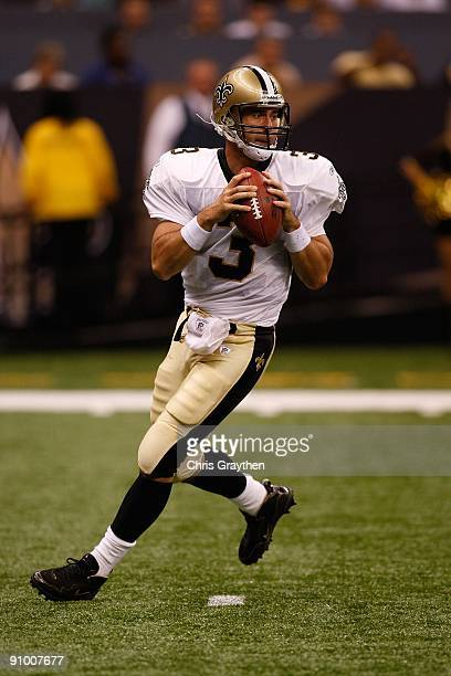 Joey Harrington of the New Orleans Saints during the game against the Miami Dolphins at the Louisiana Superdome on September 3 2009 in New Orleans...