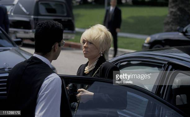 Joey Heatherton during Funeral of Frank Sinatra at Little Shepherd Catholic Church in Beverly Hills California United States