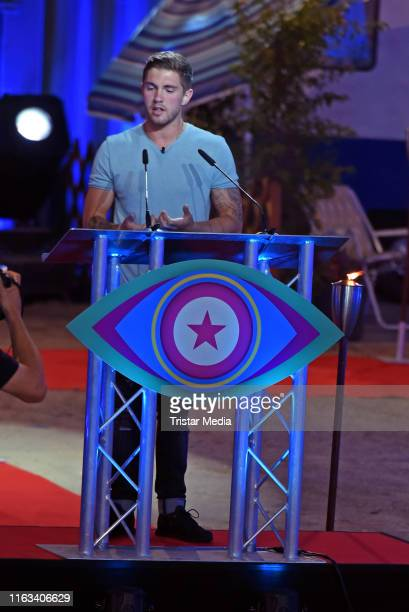 Joey Heindle during the Promi Big Brother final at MMC Studios on August 23 2019 in Cologne Germany