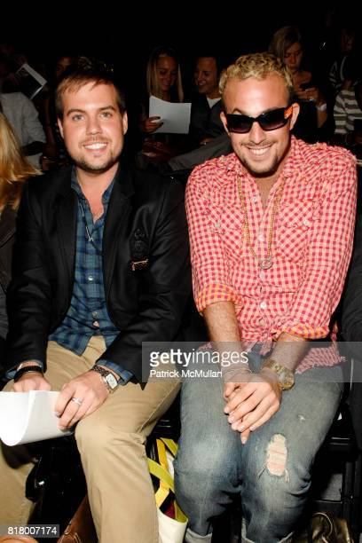 Joey Hodges and Micah Jesse attend Richie Rich 2011 Fashion Show at The Studio at Lincoln Center on September 9 2010 in New York City