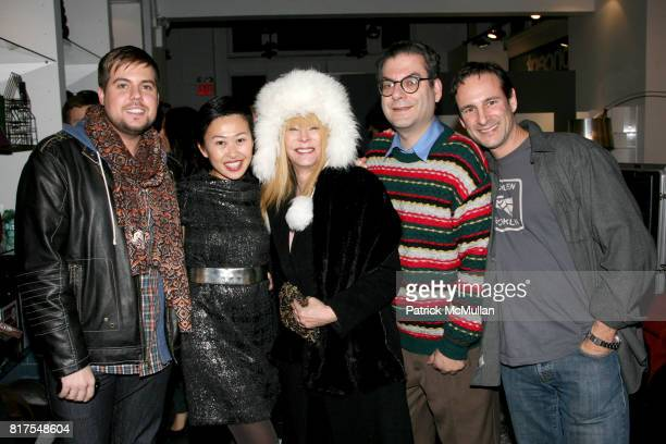 Joey Hodges Niki Cheng Anita Sarko Michael Musto and David Schlacht attend 8th Annual BoCONCEPT/KOLDESIGN Holiday Party at Bo Concept Madison Ave on...