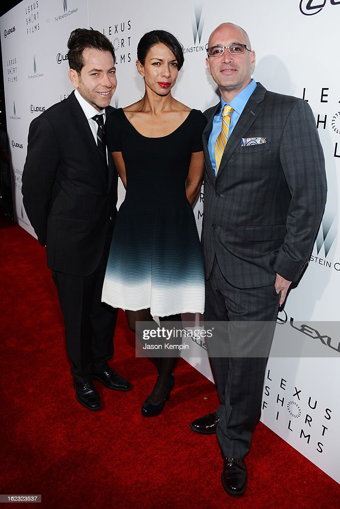 Joey Horvitz, Exectutive Producer Lance Still and Mark Longberg attend Lexus Short Film Series 'Life Is Amazing' presented by The Weinstein Company and Lexus at DGA Theater on February 21, 2013 in Los Angeles, California.