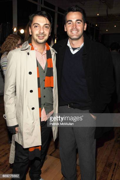 Joey Jalleo and Andrew Freesmeier attend LULU FROST KAROLINA ZMARLAK PreFashion Week Party on the High Line at 511 West 25th Street on February 10...