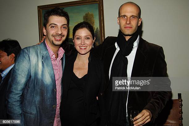 Joey Jalleo, Sasha Alexander and Louie Frank attend ETRO and Perrier Jouet Celebrate The Launch of Patrick McMullan's Book KISS KISS at Chateau...