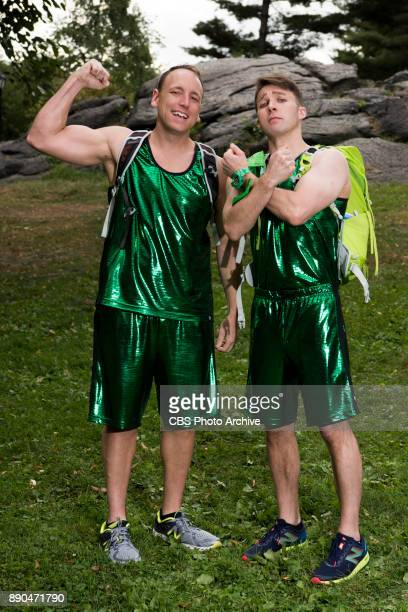Joey 'Jaws' Chestnut and Tim 'Eater X' Janus Competitive Eaters from San Jose Ca and New York NY on the 30th season of THE AMAZING RACE will premiere...