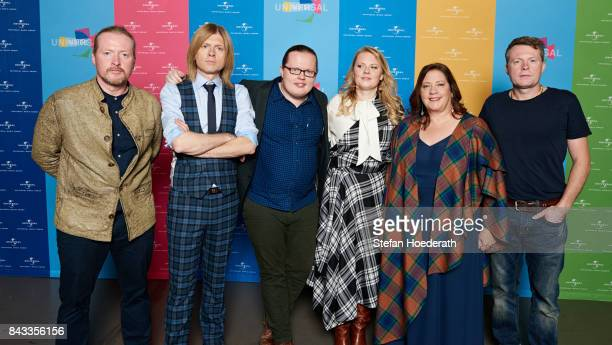 Joey John Angelo Patricia Kathy and Jimmy Kelly of The Kelly Family pose for a photo during Universal Inside 2017 organized by Universal Music Group...