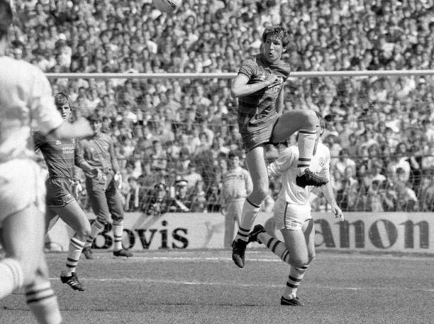Joey Jones of Chelsea during the English Division Two match between Chelsea and Leeds United held on April 28, 1984 at Stamford Bridge, in London....