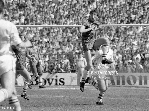 Joey Jones of Chelsea during the English Division Two match between Chelsea and Leeds United held on April 28 1984 at Stamford Bridge in London...