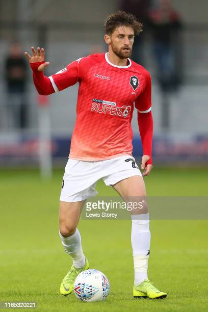 Joey Jones of Salford City during the Pre-Season Friendly match between Salford City and Woking at Moor Lane on July 19, 2019 in Salford, England.