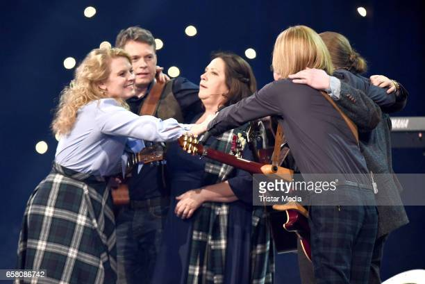 Joey Kelly Angelo Kelly Kathy Kelly Patricia Kelly Jimmy Kelly and John Kelly of the band 'The Kelly Family' perform during the show...