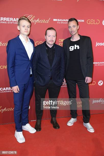 Joey Kelly his son Luke Kelly and Marc Mertens attend the 23th Annual Jose Carreras Gala on December 14 2017 in Munich Germany