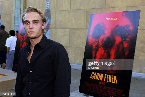 Joey Kern during Cabin Fever Premiere Red Carpet in Hollywood California United States
