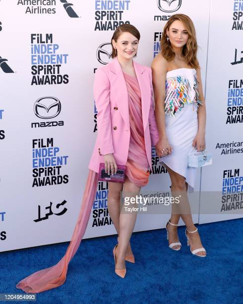 Joey King and Hunter King attend the 2020 Film Independent Spirit Awards at Santa Monica Pier on February 08, 2020 in Santa Monica, California.