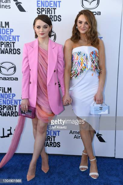 Joey King and Hunter King attend the 2020 Film Independent Spirit Awards on February 08, 2020 in Santa Monica, California.
