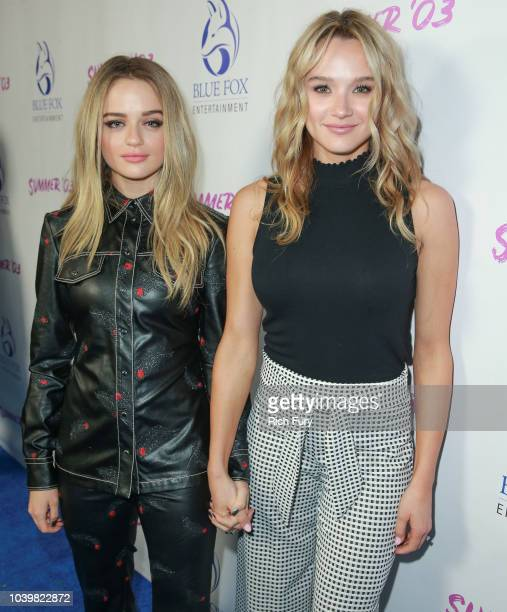 Joey King and Hunter King attend the premiere of Blue Fox Entertainment's Summer '03 at the Vista Theatre on September 24 2018 in Los Angeles...