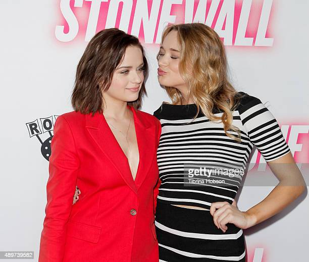 Joey King and Hunter King attend the premiere of Roadside Attractions' 'Stonewall' at the Pacific Design Center on September 23 2015 in West...