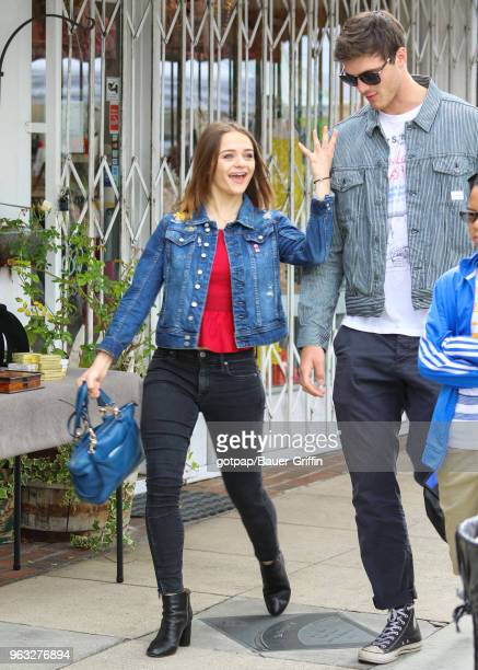 Joey King and Jacob Elordi are seen on May 27, 2018 in Los Angeles, California.