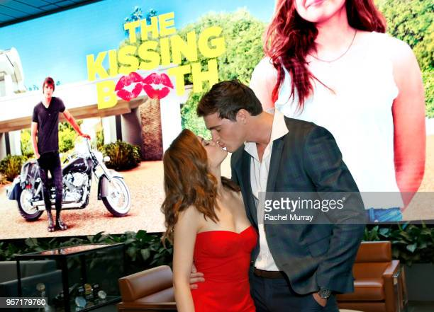 Joey King and Jacob Elordi attend a screening of 'The Kissing Booth' at NETFLIX on May 10 2018 in Los Angeles California