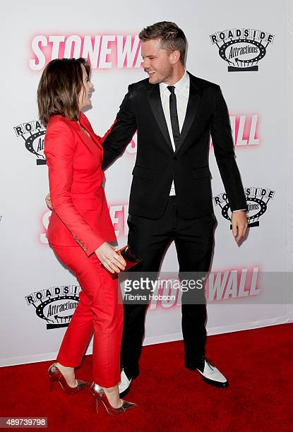 Joey King and Jeremy Irvine attend the premiere of Roadside Attractions' 'Stonewall' at the Pacific Design Center on September 23 2015 in West...