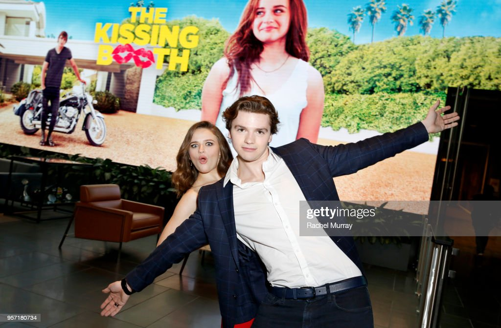 Joey King and Joel Courtney attend a screening of 'The Kissing Booth
