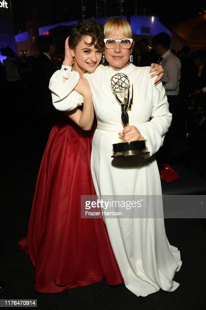 Joey King and Patricia Arquette attend the Governors Ball during the 71st Emmy Awards at L.A. Live Event Deck on September 22, 2019 in Los Angeles,...
