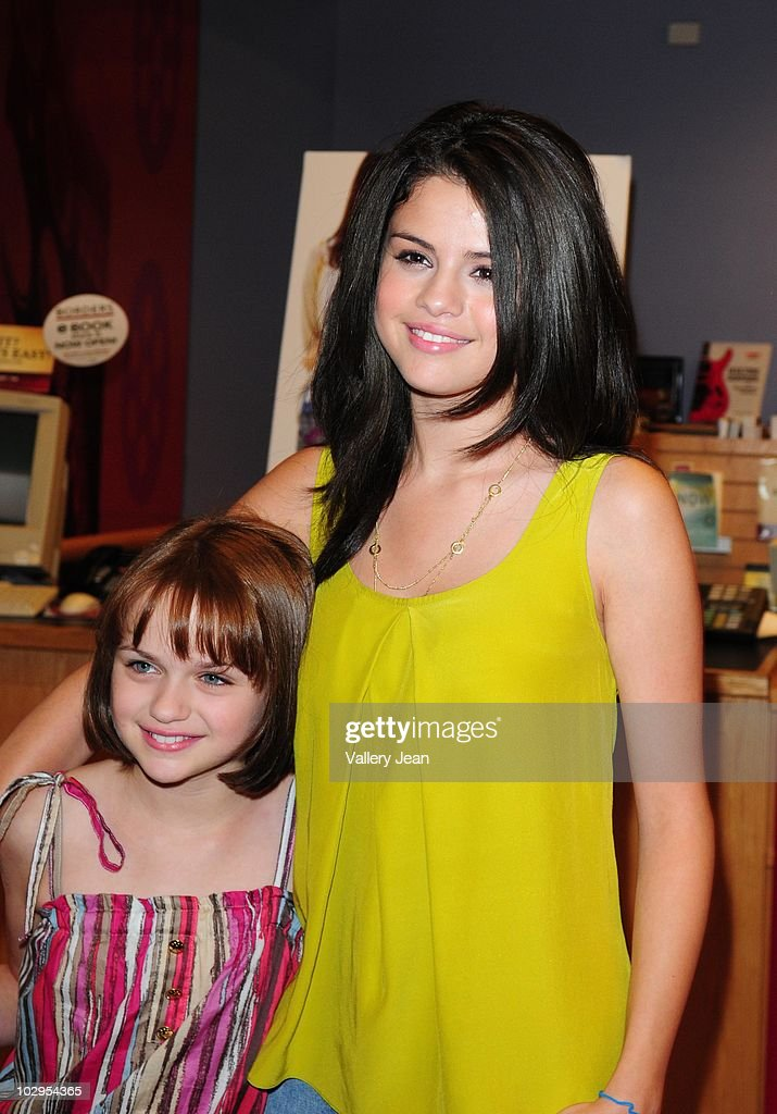 Selena gomez and joey king fan meet and greet photos and images joey king and selena gomez attend meet and greet event for the new upcoming film m4hsunfo
