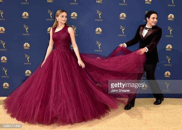 Joey King and Zac Posen attend the 70th Emmy Awards at Microsoft Theater on September 17 2018 in Los Angeles California