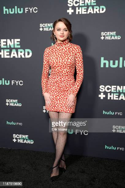 "Joey King attends the 2019 Hulu ""Scene and Heard"" SAG Event at Pacific Design Center on November 13, 2019 in West Hollywood, California."