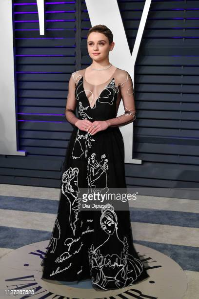 Joey King attends the 2019 Vanity Fair Oscar Party hosted by Radhika Jones at Wallis Annenberg Center for the Performing Arts on February 24 2019 in...
