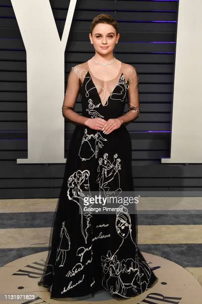 Joey King attends the 2019 Vanity Fair Oscar Party hosted by Radhika Jones at Wallis Annenberg Center for the Performing Arts on February 24, 2019 in...