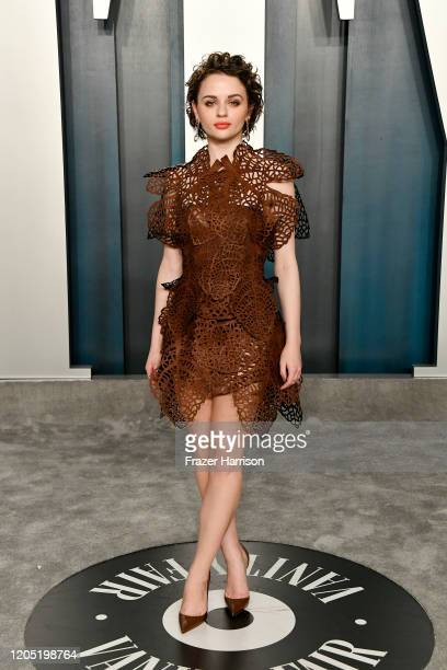 Joey King attends the 2020 Vanity Fair Oscar Party hosted by Radhika Jones at Wallis Annenberg Center for the Performing Arts on February 09 2020 in...