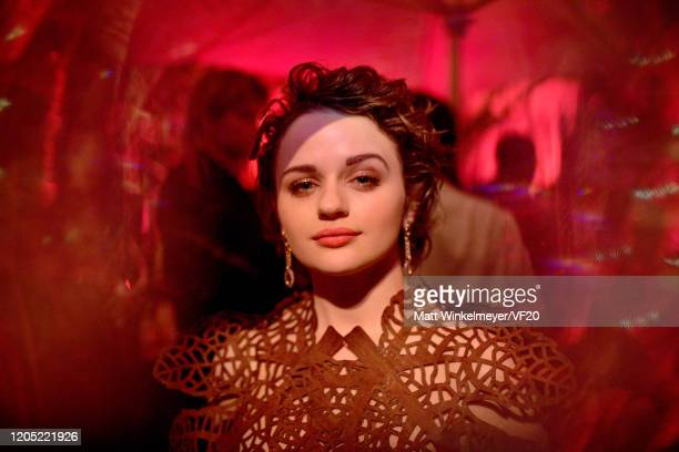 Joey King attends the 2020 Vanity Fair Oscar Party hosted by Radhika Jones at Wallis Annenberg Center for the Performing Arts on February 09, 2020 in...