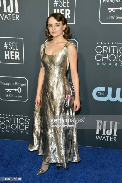 Joey King attends the 25th Annual Critics' Choice Awards held at Barker Hangar on January 12 2020 in Santa Monica California