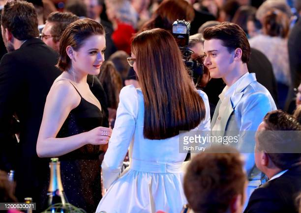 Joey King, Millie Bobby Brown and Noah Schnapp attend the 26th Annual Screen ActorsGuild Awards at The Shrine Auditorium on January 19, 2020 in Los...