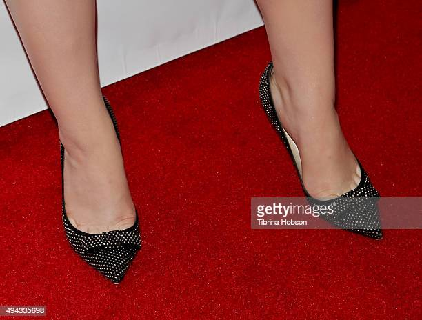 Joey King shoe detail attends ACT's 10th annual Denim Diamonds Gala at Four Seasons Hotel on October 25 2015 in Westlake Village California