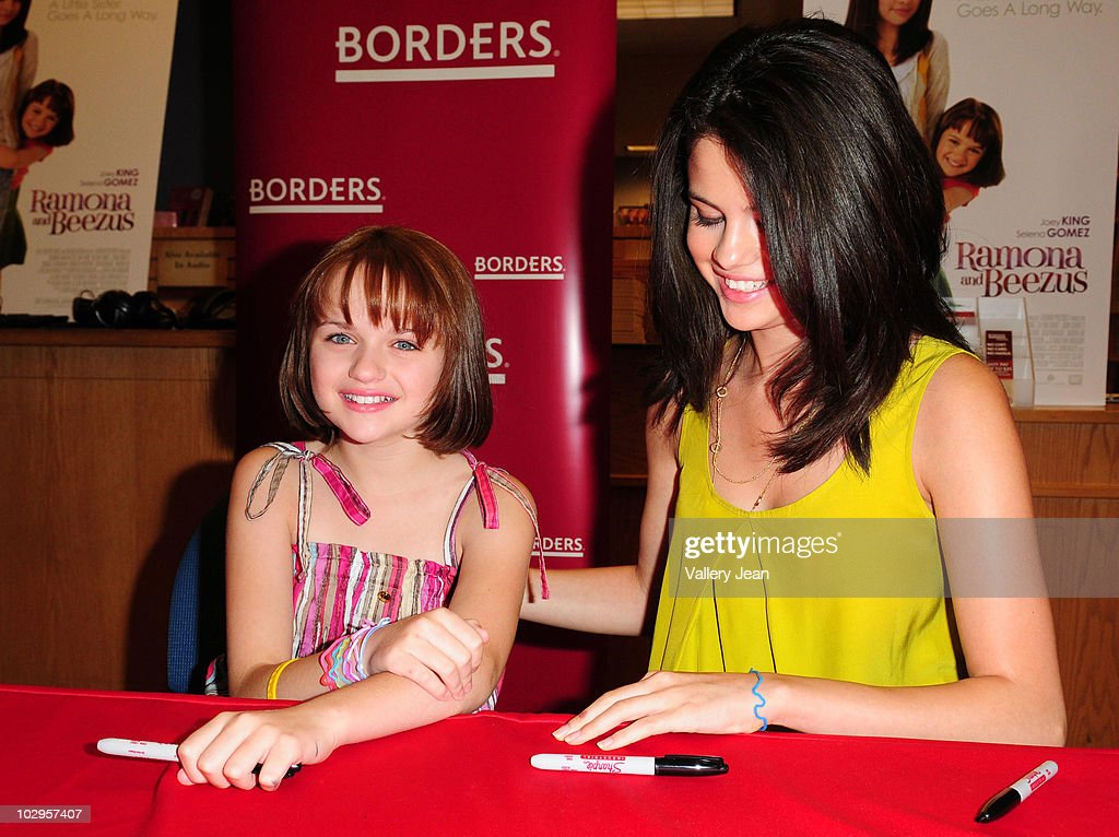 Selena gomez and joey king fan meet and greet photos and images joey kings and selena gomez attend the meet and greet event for the new upcoming film m4hsunfo