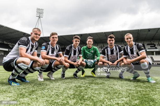 Joey Konings Yoell van Nieff Adran Dalmau Janis Blaswich Maximilian Rossmann Silvester van der Water during the team presentation of Heracles Almelo...