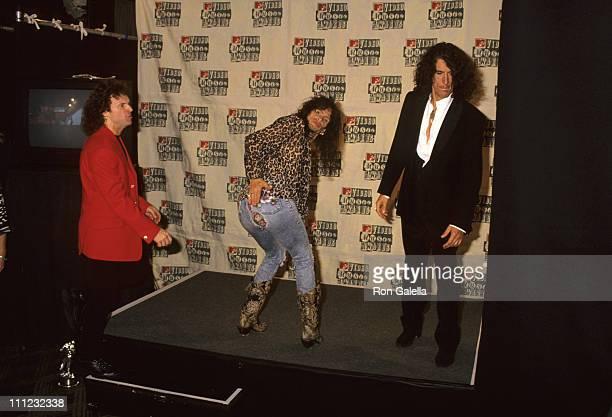 Joey Kramer Steven Tyler and Joe Perry during 1994 MTV Video Music Awards in New York City New York United States