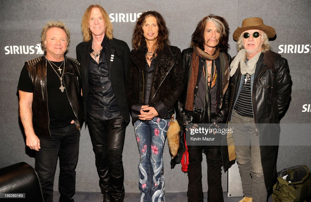 """SiriusXM's Town Hall With Aerosmith"" Airs Live On Classic Vinyl In The SiriusXM Studios : News Photo"