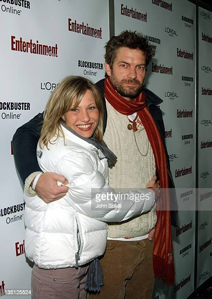 Joey Lauren Adams and Andrew Calder during 2006 Sundance Film Festival Entertainment Weekly Sundance Opening Weekend Party Red Carpet at The Shop in...