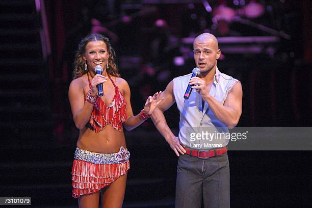 Joey Lawrence and Edyta Sliwinska of Dancing With the Stars perform at the Bank Atlantic Center on January 24 2007 in Sunrise Florida