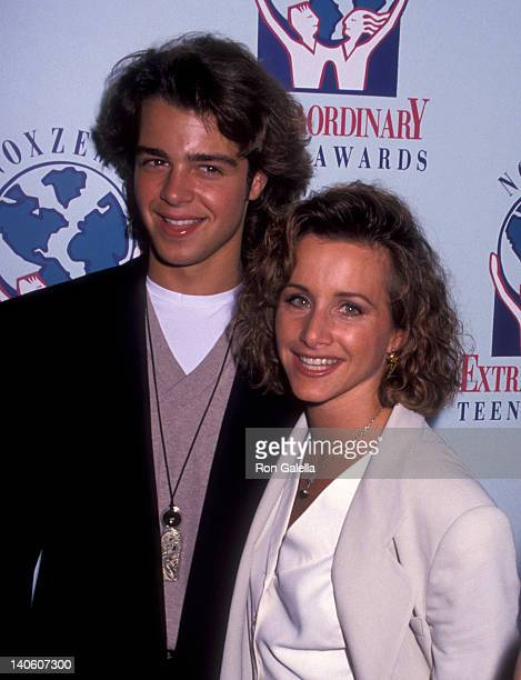 Joey Lawrence and Gabrielle Carteris at the Noxzema Extraordinary Teen Awards Luncheon Honoring Top Ten Teen Volunteers New York Palace Hotel New...