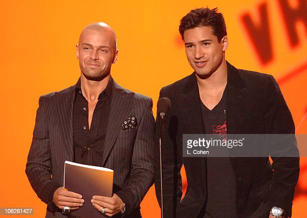Joey Lawrence and Mario Lopez presenters during VH1 Big in '06 Show at Sony Studios in Culver City California United States