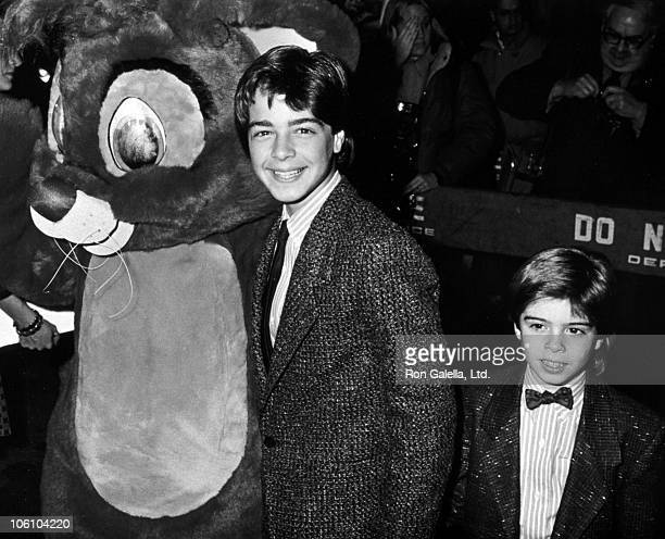 Joey Lawrence and Matthew Lawrence during Oliver Company Los Angeles Premiere at Walt Disney Studios in Burbank California United States