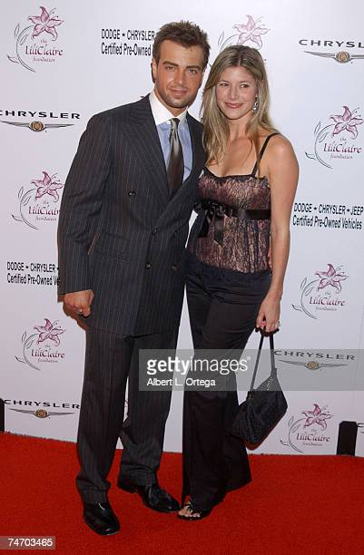 Joey Lawrence and Michelle Vella at the Beverly Hilton Hotel in Beverly Hills California